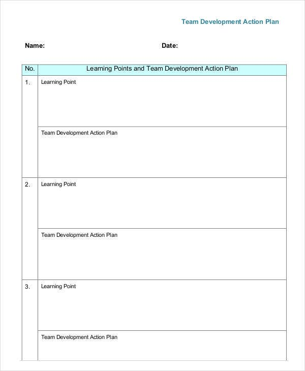 10 team action plan templates free sample example format