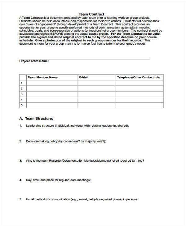 10 project contract templates sample examples free for Dance contract template