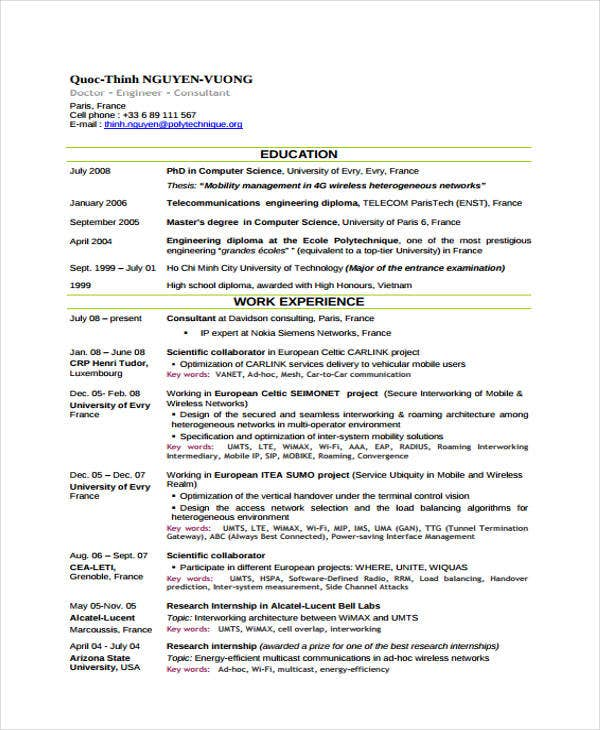 engineer curriculum vitae templates 9 free word pdf
