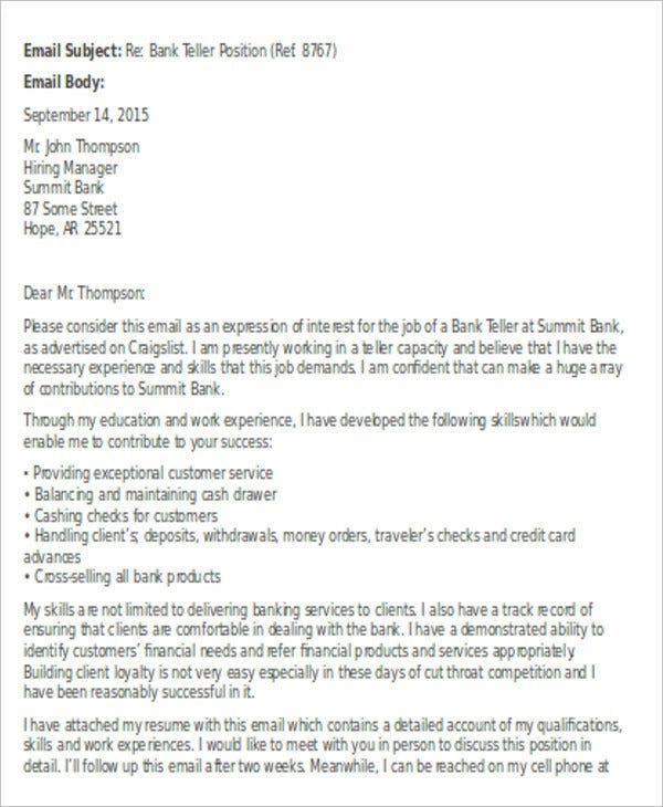 Banking Cover Letter Free Word PDF Format Download Free - Us bank teller cover letter