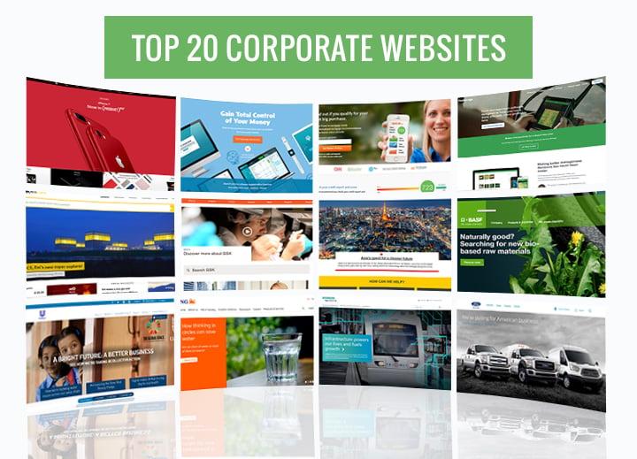 top 20corporte webs