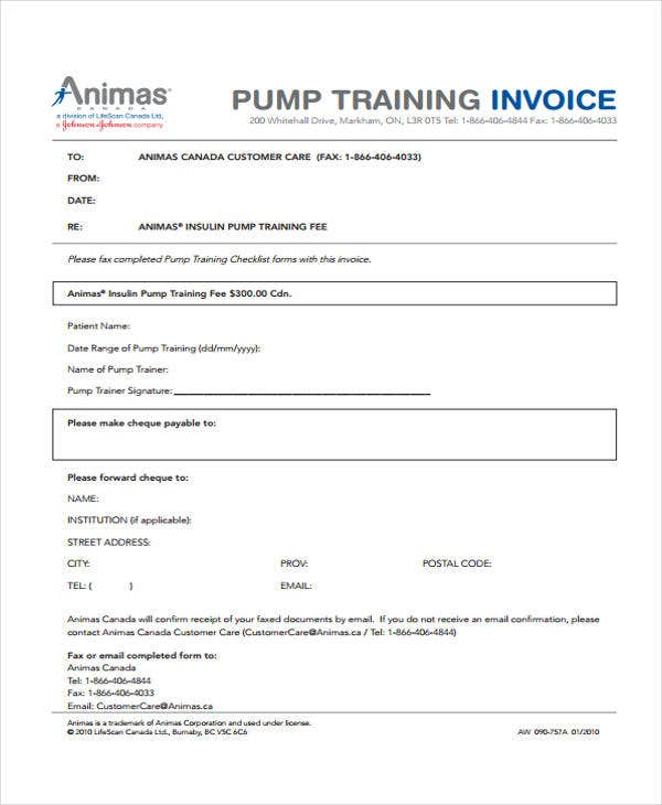 training invoice1
