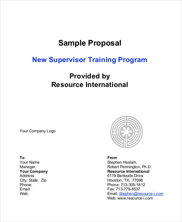 Program Proposal Templates Free Sample Example Format