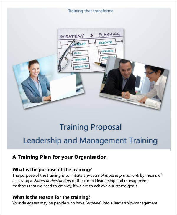 Training Proposal Leadership and Management