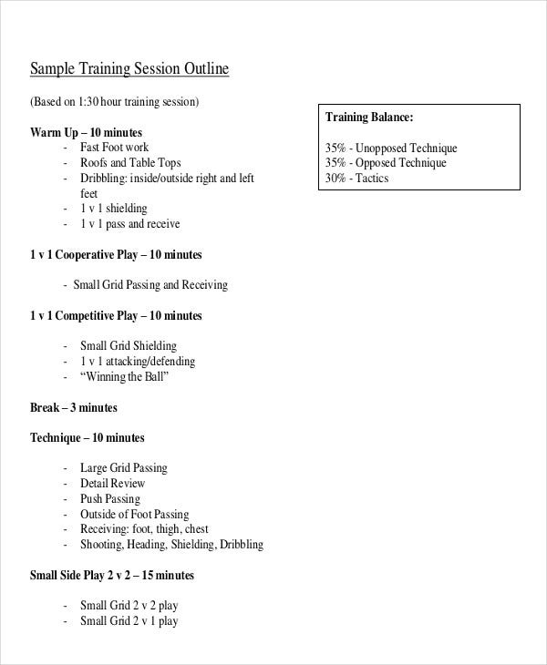 8 training outline templates free sample example format download