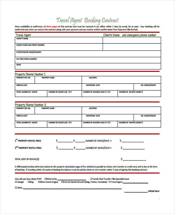 Agent Contract Templates - 8+ Free Word, Pdf Format Download