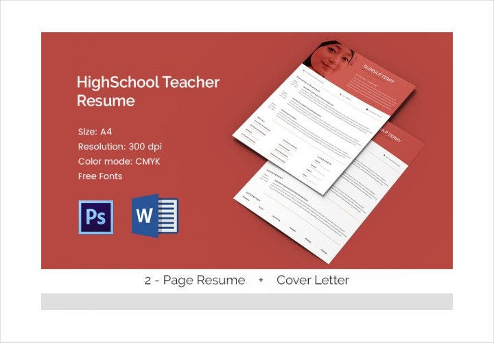 Trendy High School Teacher Resume Template