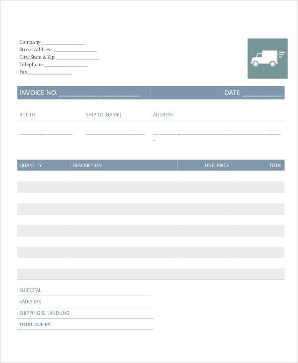 trucking invoice