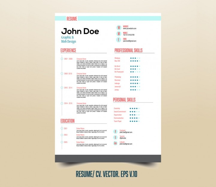 useful infographic resume