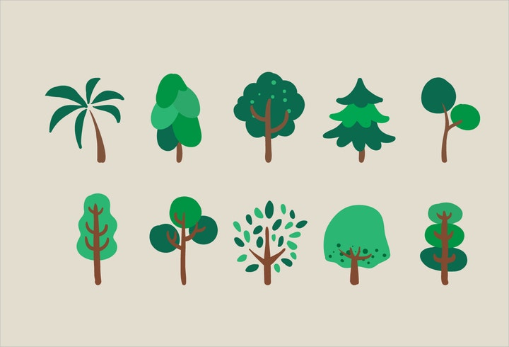 vector trees illustration