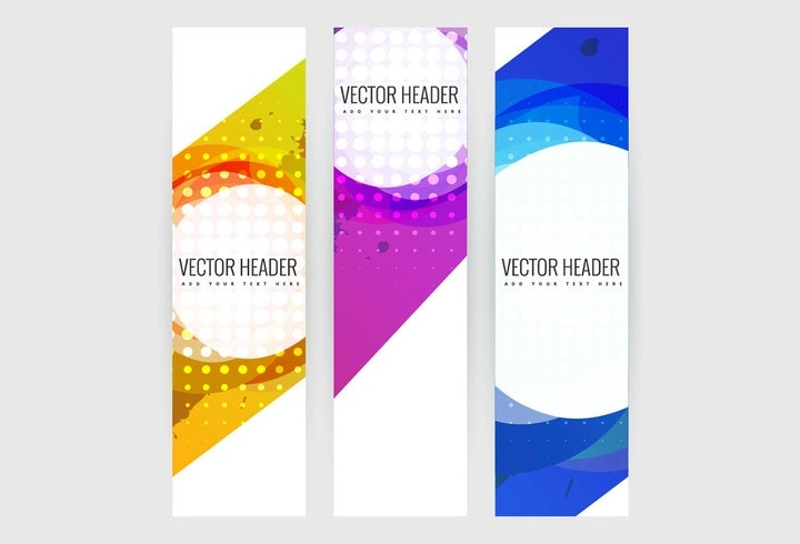 vertical banners set