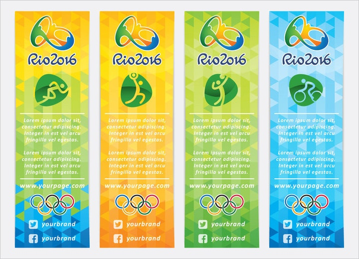 vertical olympic banner