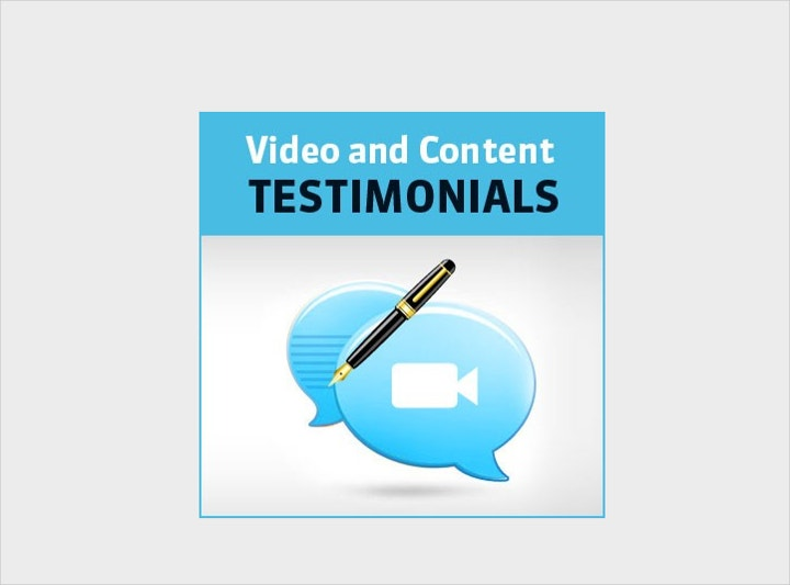 video and content testimonial template