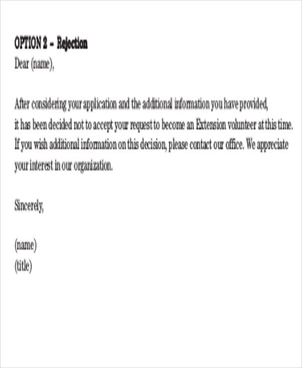 36 Rejection Letter Pdf Free Amp Premium Templates
