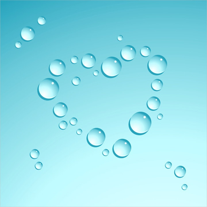 water drop heart shape