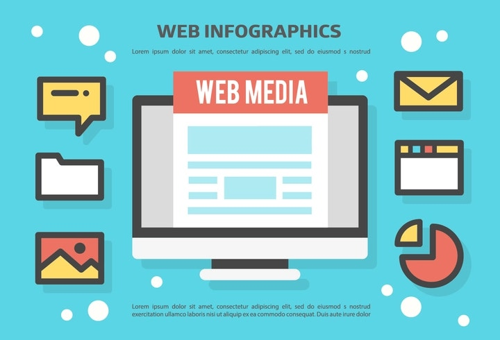 web-infographics-vector