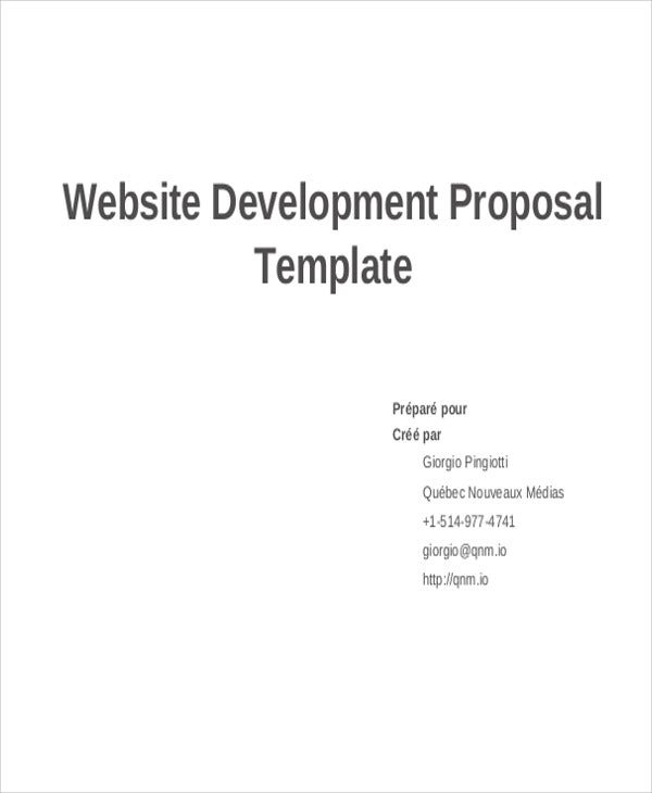 9 Development Project Proposal Templates Free Sample Example