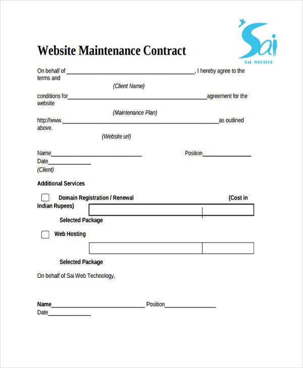 9+ Maintenance Contract Templates - Free Sample, Example Format ...