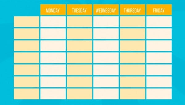weeklyactivityscheduletemplates