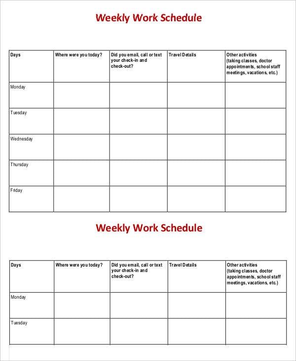 Weekly Work