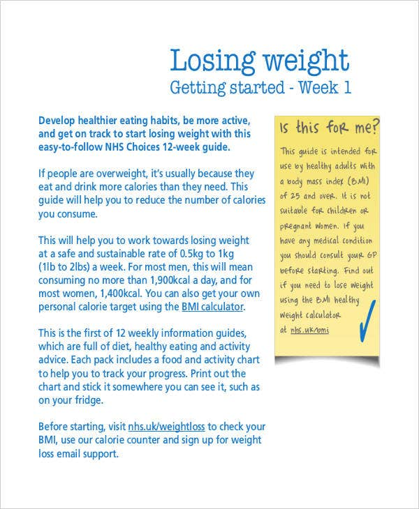 weight loss plan1