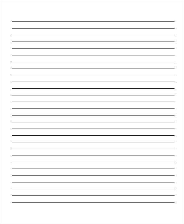 10 Lined Paper Templates Free Sample Example Format Download – Lined Paper Template
