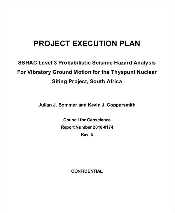 work execution plan