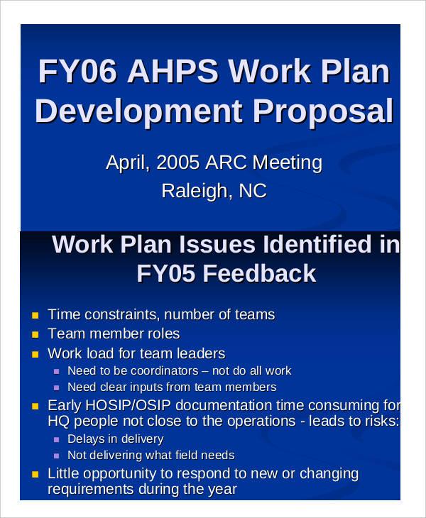Work Plan Development