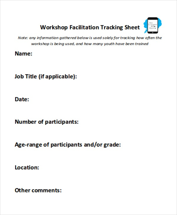 workshop sheet sample