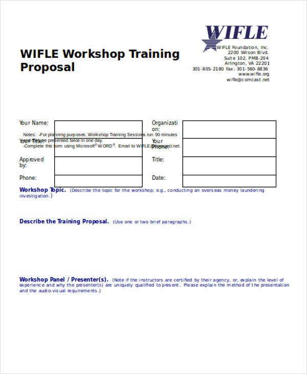 workshop training proposal1