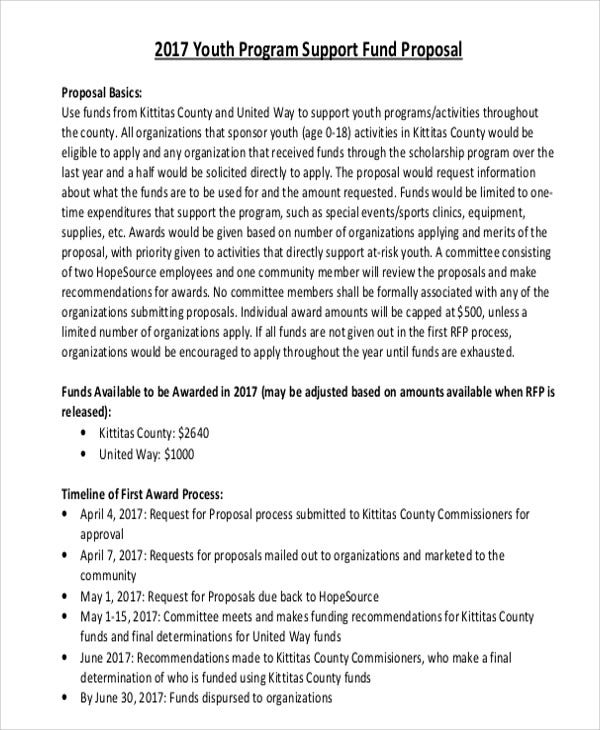sports program proposal The va adaptive sports grant program and olympic each organization applying must submit a proposal based on the instructions provided in the notice of.