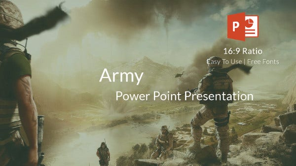 Army PowerPoint Template