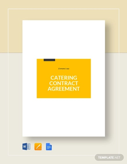 9 Catering Contract Templates Docs Pages Free Premium Templates