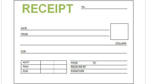9 Cash Receipt Templates Free Sample Example Format Download Free Premium Templates