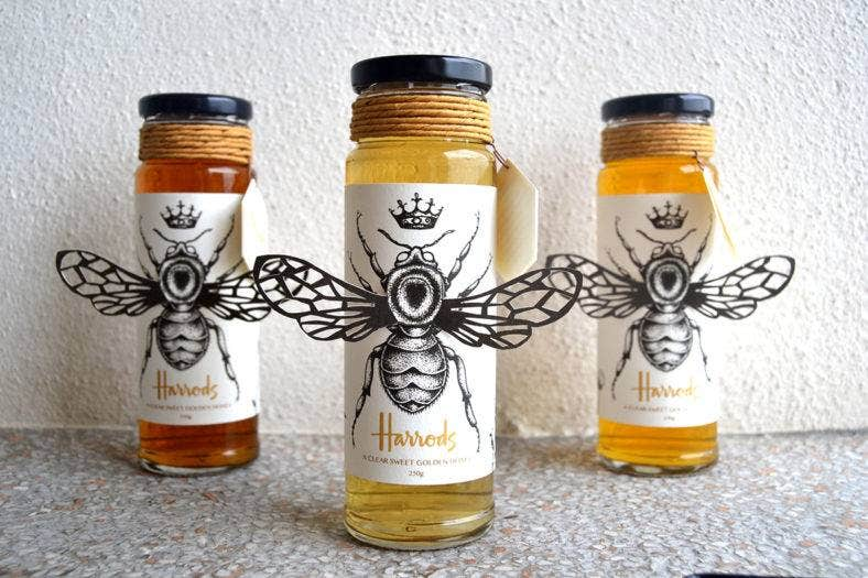 Harrods Honey Packaging
