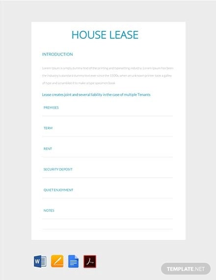 house lease1