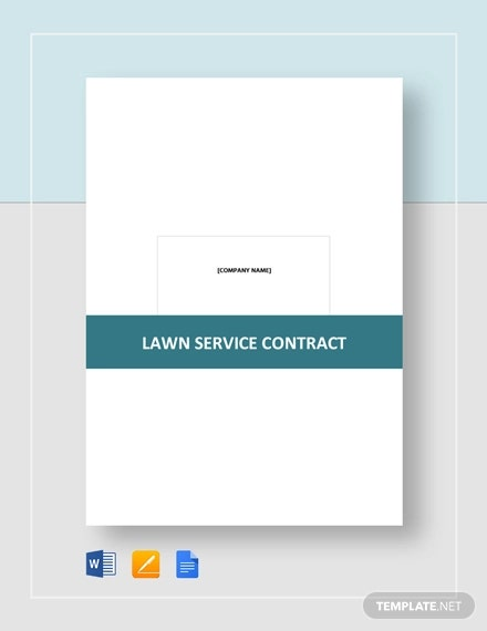 9+ Lawn Service Contract Templates - PDF, DOC, Apple Pages