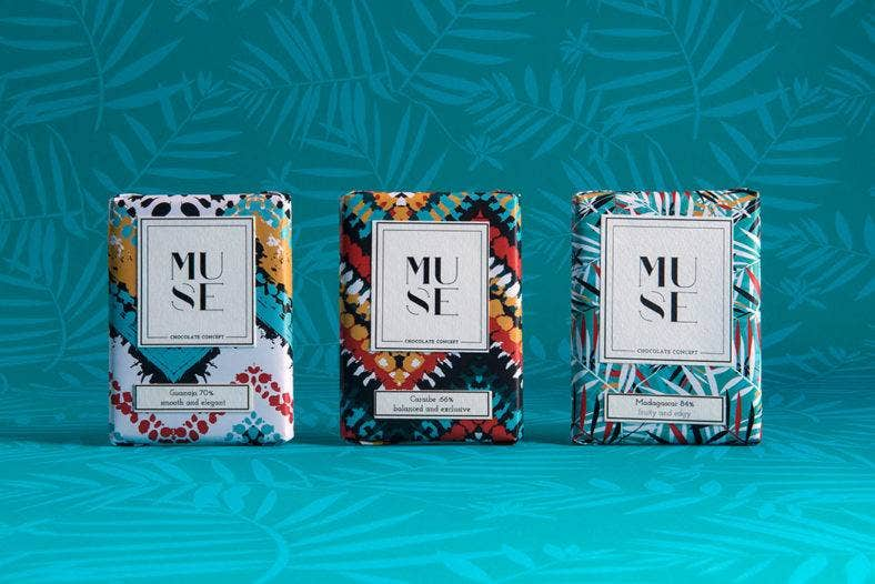 Muse Chocolate Packaging Design
