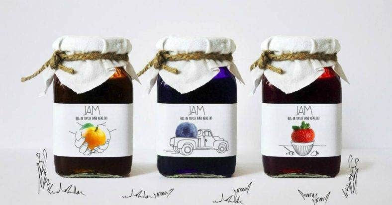 Organic Jam Packaging Design