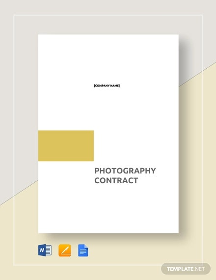 Photography Contract Template