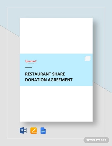 restaurant share donation