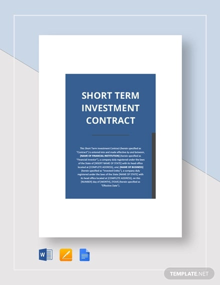 short term investement contract