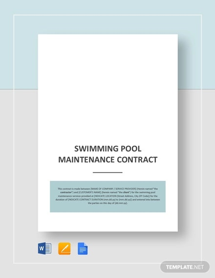 swimming pool maintenance