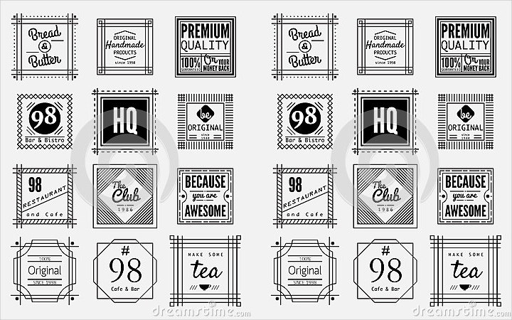 vintage-square-badges
