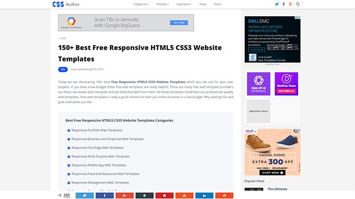 web-design-templates-css-outhor