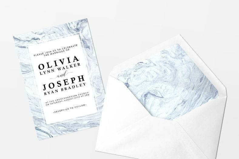 Marble Texture Wedding Invite