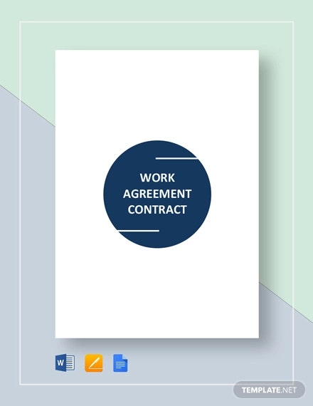work agreement contract