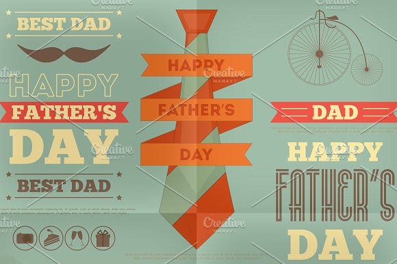 Retro Father's Day Design
