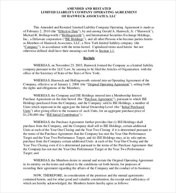 a-r-llc-operating-agreement