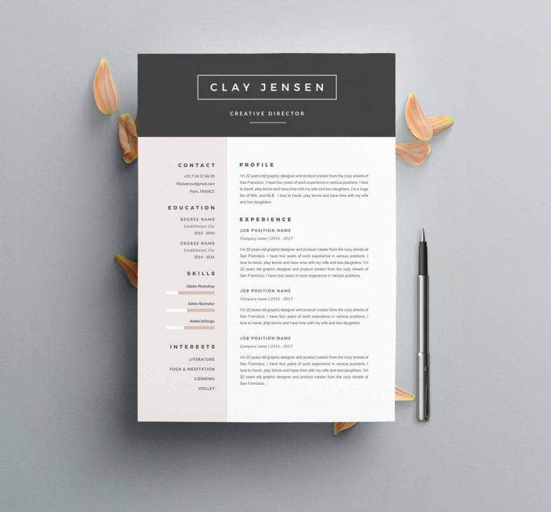 a4-customizable-resume